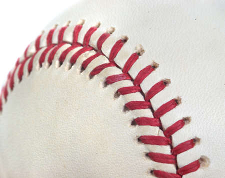 Closeup of a baseball perfect for a sports background photo