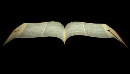biblia abierta: una Biblia abierta