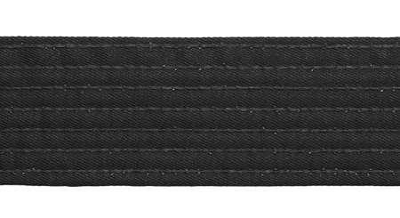 bushido: Karate black belt closeup isolated on white background