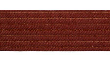 bushido: Karate brown belt closeup isolated on white background