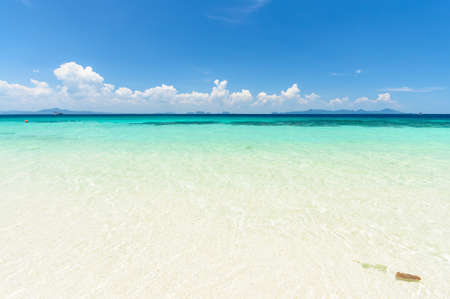 Unbelievably clear, clean water with hundreds of shades of blues and greens and white sugar sand beaches