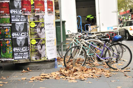bicycles in melbourne Editorial