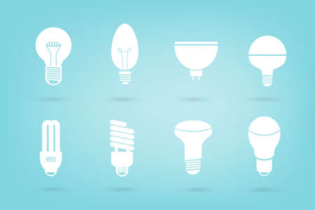 the collection of bulb vector style eps10