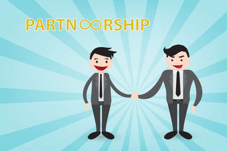 brighten: Partnership for sustainable the brighten future vector style eps10 using in business theme Illustration