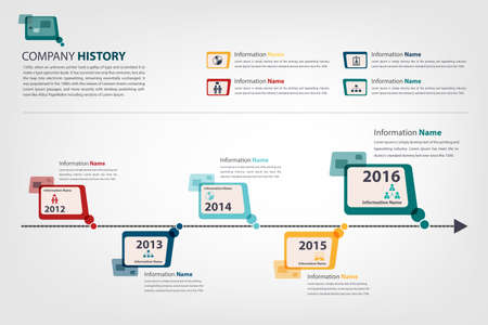 timeline and milestone for presenting company history vector eps10 Иллюстрация