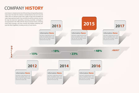 timeline  milestone company history infographic in vector style eps10