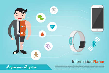 smart phone and smart life infographic vector style