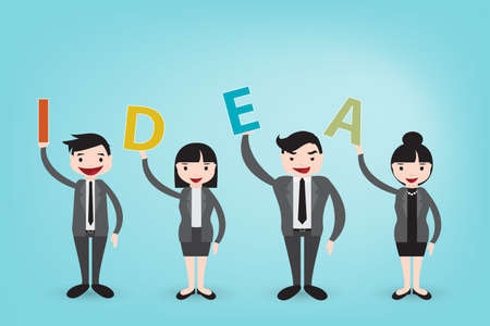 create idea: teamwork create brighten idea vector eps10