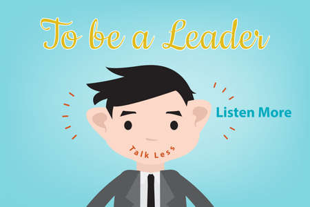 suite: to be a leader, should talk less and listen more Illustration
