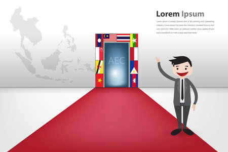 opportunity: gateway to aec for business opportunity vector  Illustration