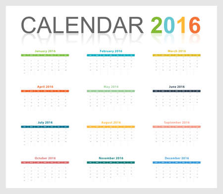 january calendar: Calendar 2016 template   free size scale