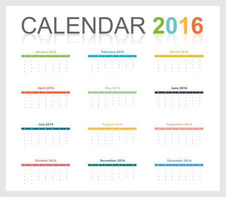 calendario julio: Calendario 2016 plantilla de escala de tama�o libre