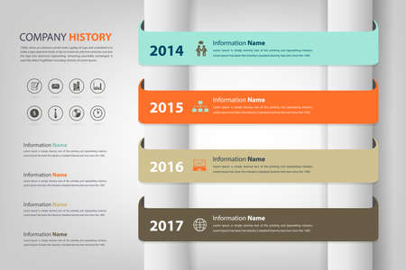 milestone: timeline & milestone for company report (vector eps10)