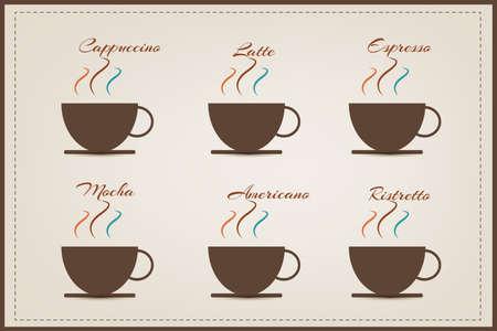 cofee: cofee logo illustration (vector eps10) Illustration