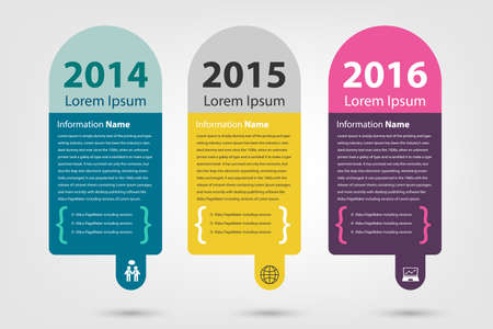 timeline & milestone company history infographic in vector style (eps10) Ilustração