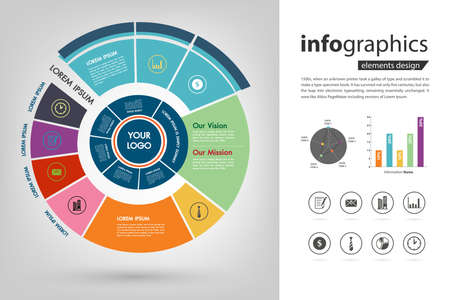 company roadmap and milestone plan infographic vector