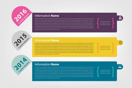 milestone: timeline & milestone company information (history) infographic in vector style (eps10)