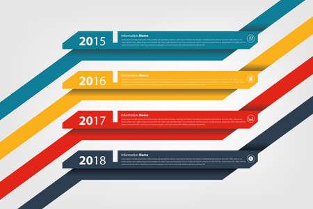 milestone: timeline & milestone company history infographic in vector style   Illustration