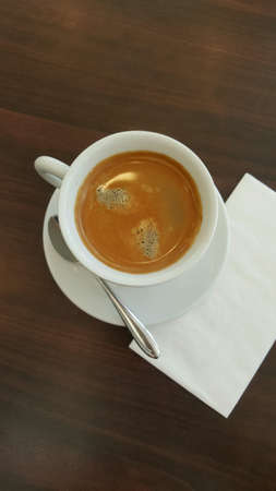 Coffee moment with a cup of hot americano