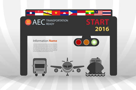 AEC starting on 2016 transportation ready in vector eps10