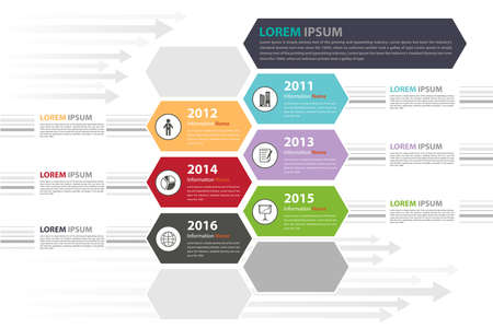 history icon: Milestone timeline infographic in vector eps10 Illustration