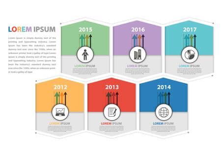 milestone: Milestone and business presentation infographic in vector eps10 Illustration