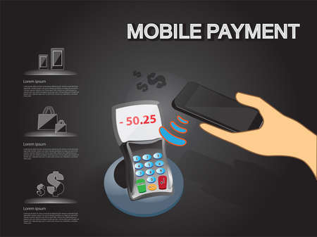 NFC Mobile payment service infographic in vector eps10