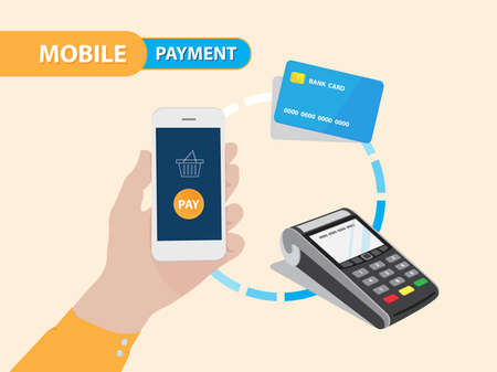 Mobile Payment Gateway in vector eps10