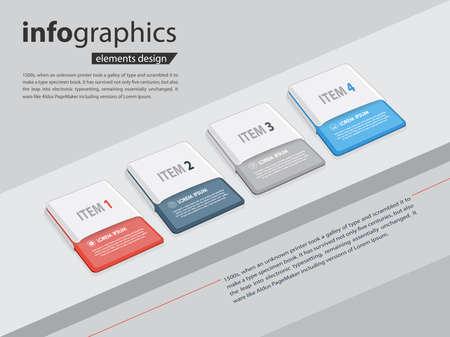 bullet items,milestone infographic design in vector eps10 Ilustração