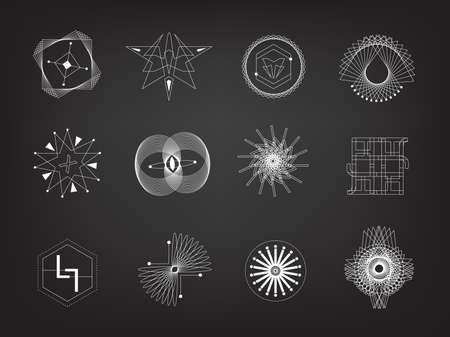Line geometry vector eps10 design element. philosophy, religion, icon, emotional, art