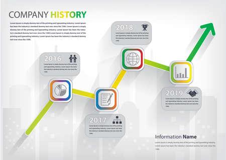 Milestone and timeline history infographic (vector eps10) Ilustração