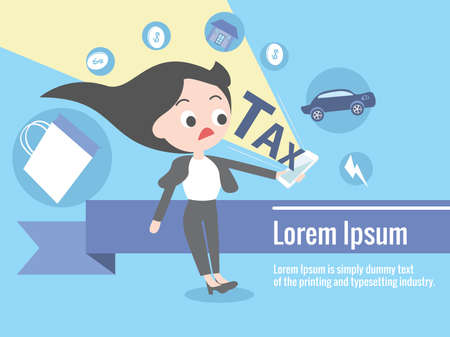 expense: financial taxation presentation infographic (Vector eps10) Illustration