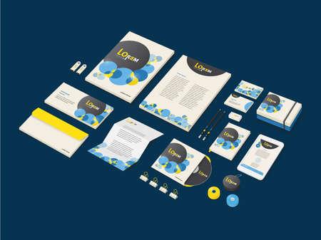 ci: Corporate Identity branding bubble theme mockup (Vector eps10)