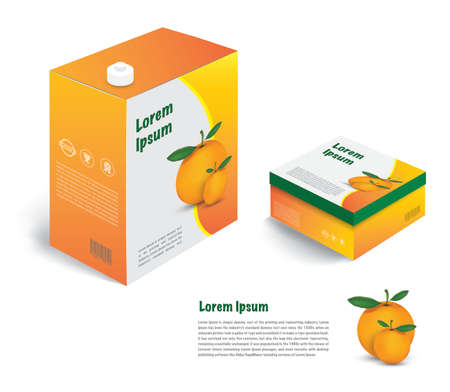Orange juice package for sale with graphic design