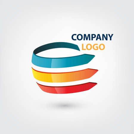 Company Logo Globe shape concept Ilustração