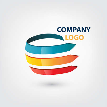 Company Logo Globe shape concept Illustration