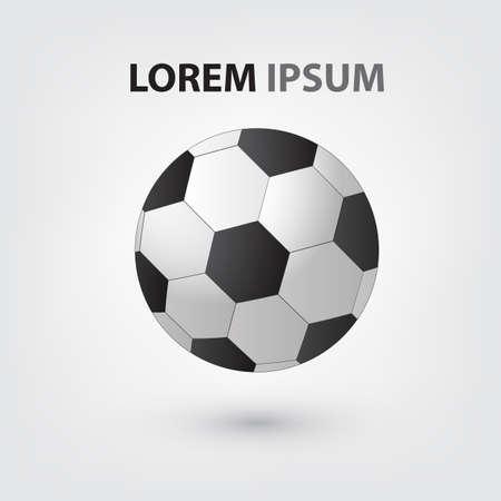 Football isolate on white background