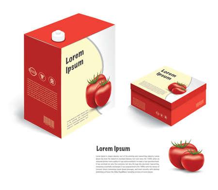 tomato juice: tomato juice and package box isolate on white background