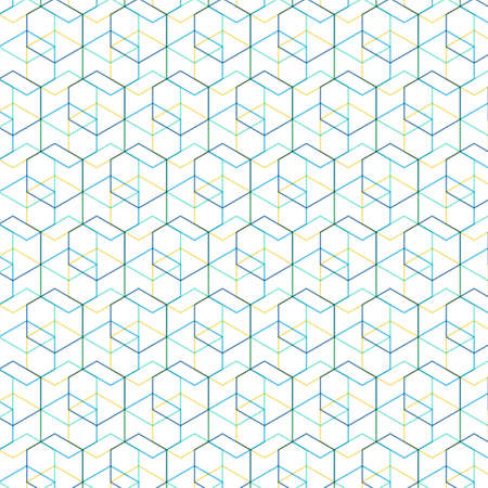 abstract fantasy line art with pattern Ilustração