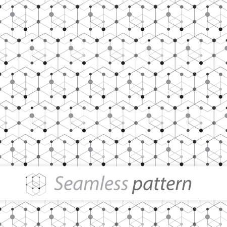 seamless texture design with pattern black and white color Ilustração