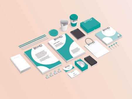 ci: Corporate branding with complete accessory design Illustration
