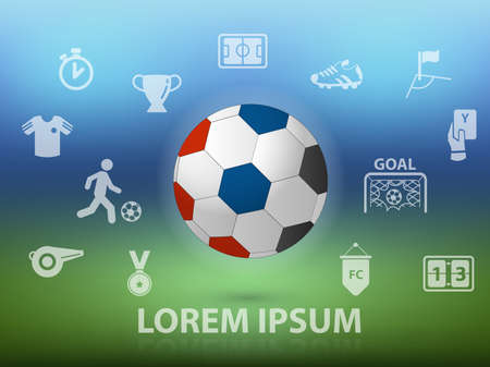 euro football festival with icon and symbol