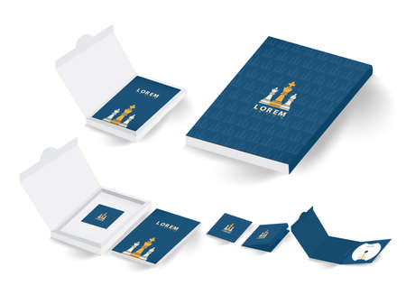 collection of corporate branding and package Ilustração