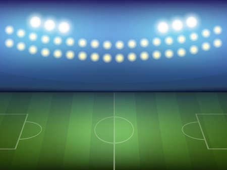 green field: football green field illustration Illustration