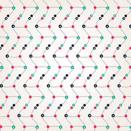 line dot abstract design with pattern Ilustração