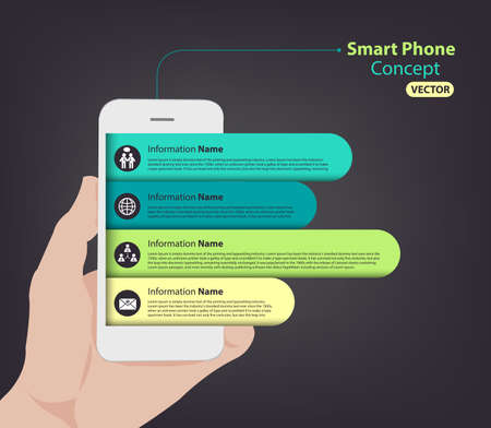Smart Phone infographic for slideshow and presentation 向量圖像