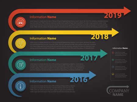 slide show: milestone and timeline for business presentation and slide show (Vector eps10)