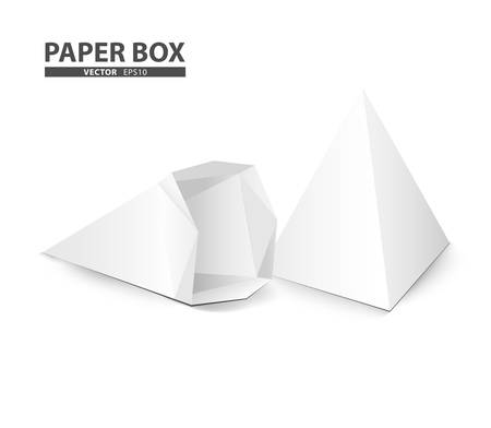 creative package design cone shape isolate on white background