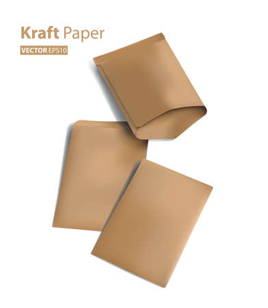 3d paper bag for document filling (Vector eps10) Ilustração