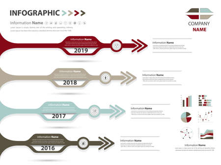 milestone: milestone and timeline for business presentation and slide show (Vector eps10)